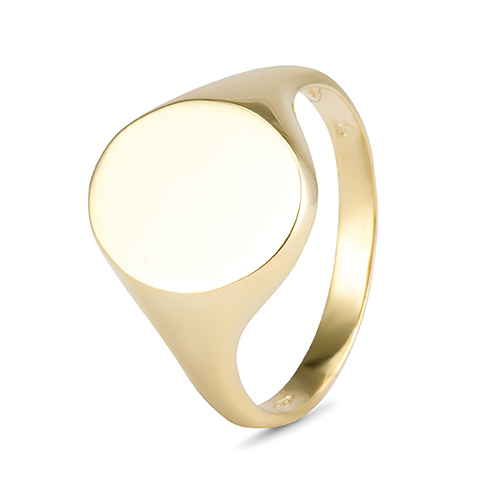 9Kt Gold Oval Signet Ring