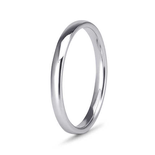 9Kt Gold Plain Straight Side Band (2.14mm)
