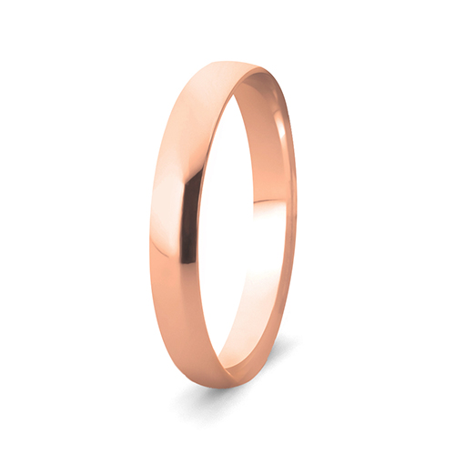 9Kt Gold Comfort Fit Wedding Band (3mm)