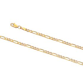 9kt Yellow Gold Figaro 3+1 Bevel 70 Essential Link Chain (2.70mm)