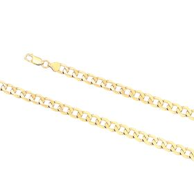 9kt Yellow Gold Oval Curb Bevel 200 Essential Link Chain (7.6mm)