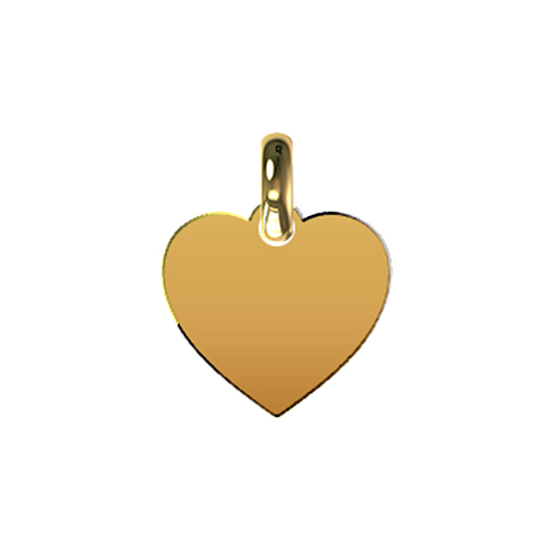 9kt Yellow Gold Finished Heart Pendant